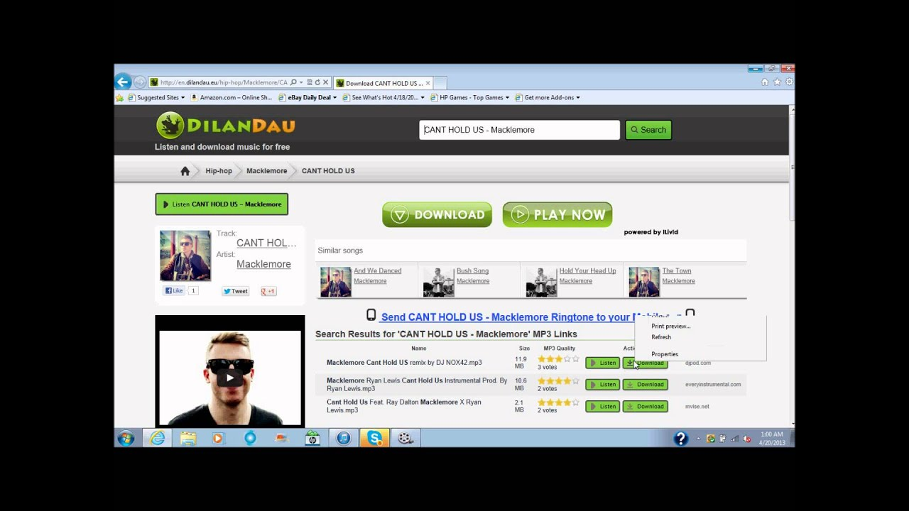 Dilandau -- free music download website. Is there any others like this