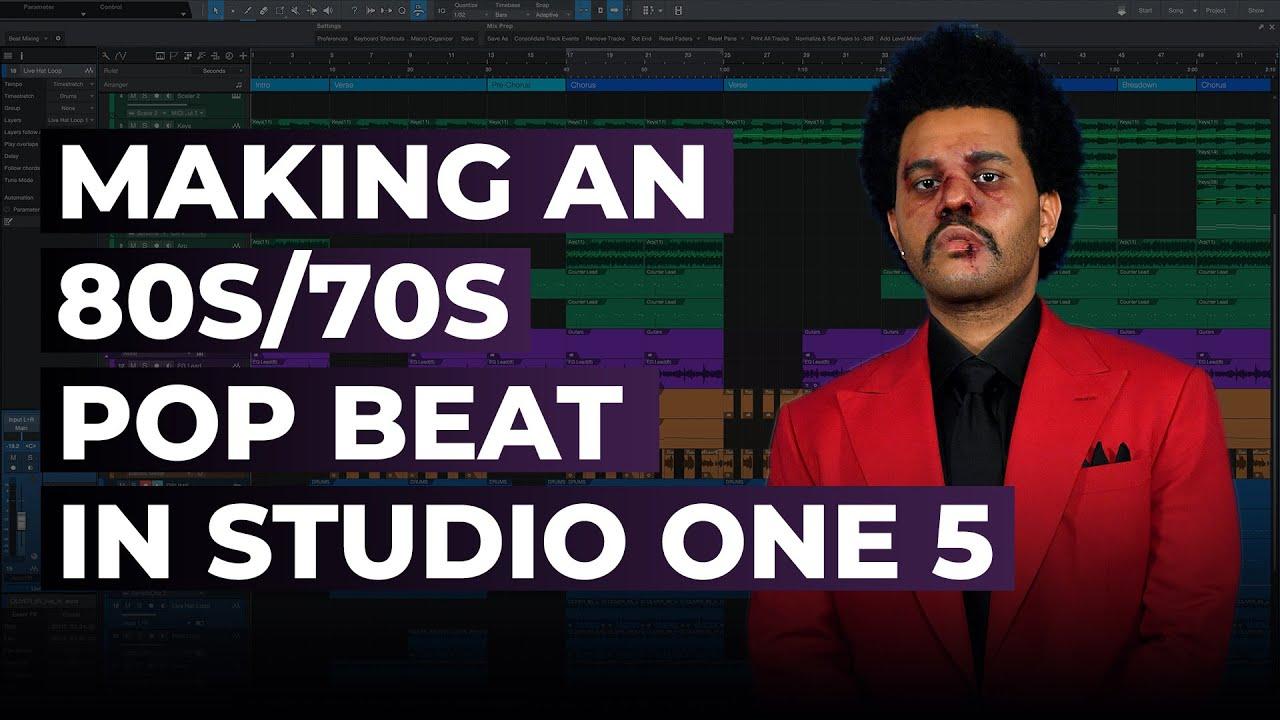 Making an 80s Pop/70s Disco Pop Inspired Beat in Studio One 5