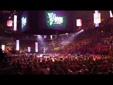 Doing the We Day dance