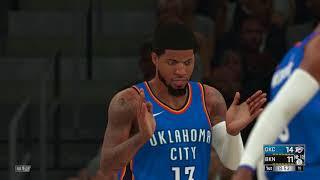 NBA 2K18 Oklahoma City Thunder vs Brooklyn Nets