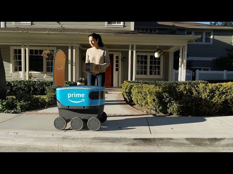 Wake Up Call - Small Robots Begin to Deliver Amazon Packages to Orange County