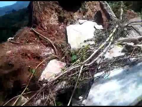 Massive Land Slide At Babonneau, Saint Lucia After Hurricane Tomas