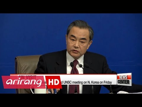 Chinese foreign minister Wang Yi to attend UN meeting on N. Korea on Friday