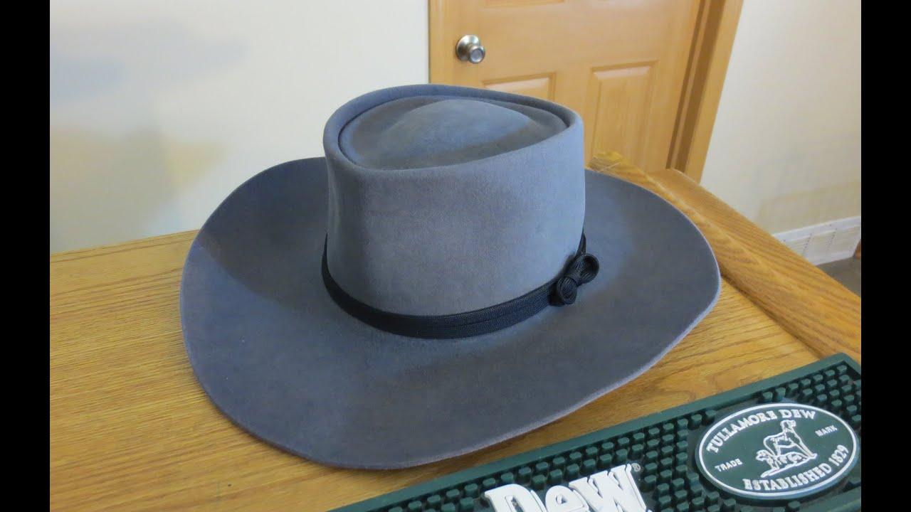 6a43b2d4b6e Restoring Reblocking a used beaver felt cowboy hat into a Roy Rogers clone