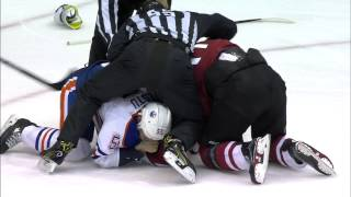 Tempers flare late in the Oilers & Coyotes game