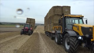 Loading bales and racing the Massey