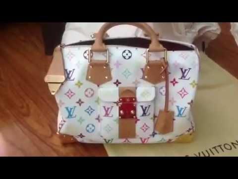 1369342705b9 Louis Vuitton Multicolore Murakami Speedy 30 Review - YouTube