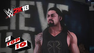 Rib Shattering Spears: WWE 2K18 Top 10