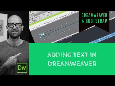 Adding text in Dreamweaver - Dreamweaver Tutorial [21/54]