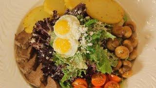 Тёплый салат с телятиной. Рецепт от шеф-повара.