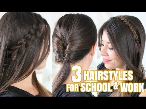 3 EASY HAIRSTYLES FOR SCHOOL & WORK! | Adriana Spink