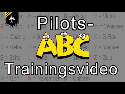 Pilot´s alphabet TRAINING video with pictures by Captain Joe