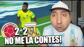 COLOMBIA 2 - 2 ARGENTINA | Reacción de un Argentino | Eliminatorias Qatar 2022