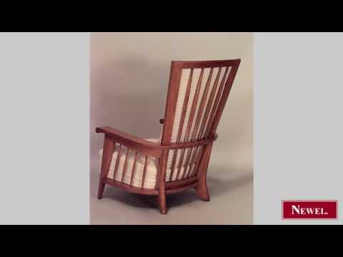 Antique Pair of French 1940s oak high back arm chairs with