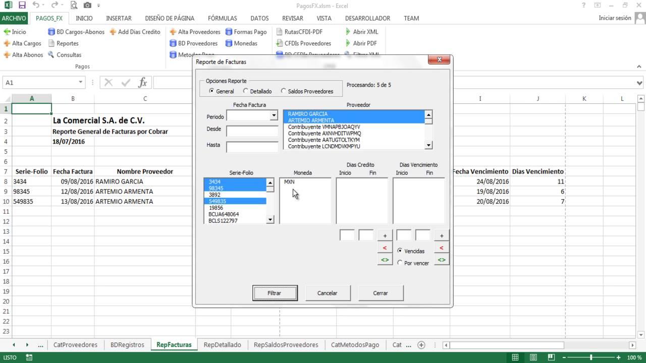 Cuentas por Pagar en Excel ( PagosFX 4.0 ) - YouTube