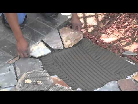 Mesh Mounted Flagstone Installation Instructions