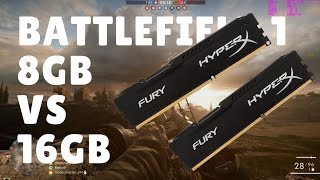 battlefield 1 8gb vs 16gb ram low vs medium vs ultra analysis