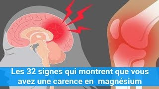 Les 32 signes qui montrent que vous avez une carence en magnésium c0ns3ils