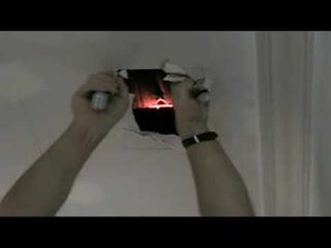 Repair A Hole In Plasterboard Or Drywall Ceiling Part One