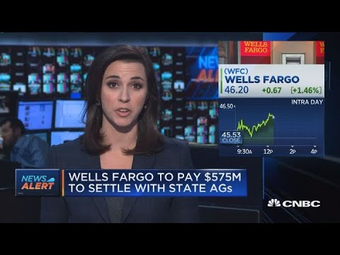 Wells Fargo to pay $575 million to settle with state AGs
