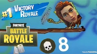 Fortnite Solo 8 KILL First Game (NEW ACCOUNT)