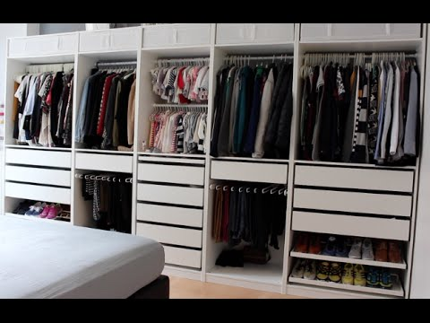 comment organiser un dressing familial ou b b pax ikea youtube. Black Bedroom Furniture Sets. Home Design Ideas
