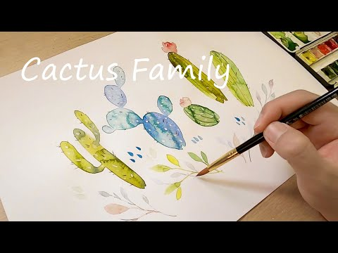How to Paint 5 Cactus Easy