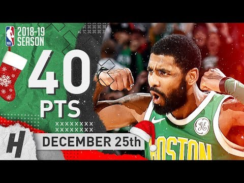 Kyrie Irving EPIC XMas Highlights Celtics vs 76ers 2018.12.25 - 40 Pts, 10 Reb, CLUTCH Uncle Drew