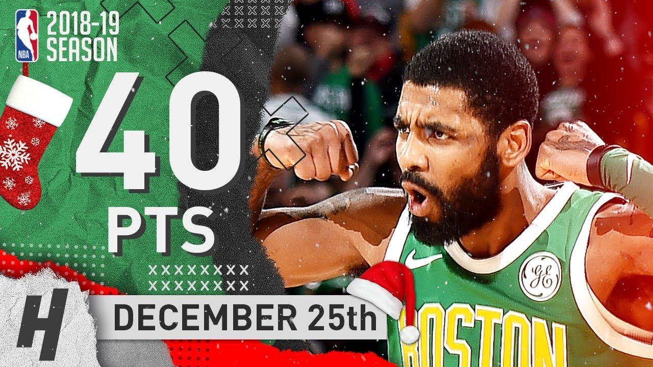 Kyrie Irving EPIC XMas Highlights Celtics vs 76ers 2018.12.25 - 40 ... 14ce7fb15