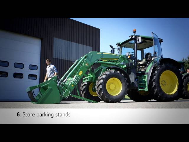 John Deere Frontloader R Series: Latch and Unlatch Procedures