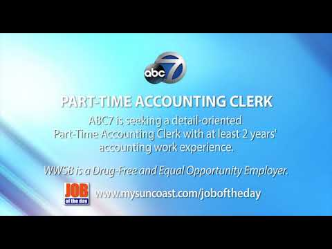 Job Of The Day: Part-Time Accounting Clerk