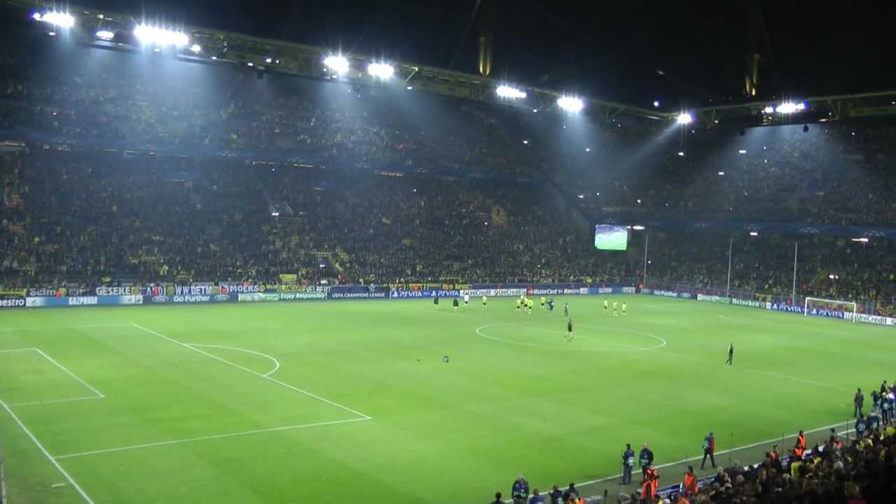 Borussia Dortmund vs Real Madrid 2-1 Atmosphere Fans BVB Uefa Champions League 2012