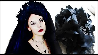 DIY Gothic Floral Headpiece Crown | PT 1 Ethereal Goddess