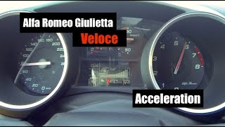 2016 alfa romeo giulietta veloce quadrifoglio 0 100 acceleration launch control and manual mode