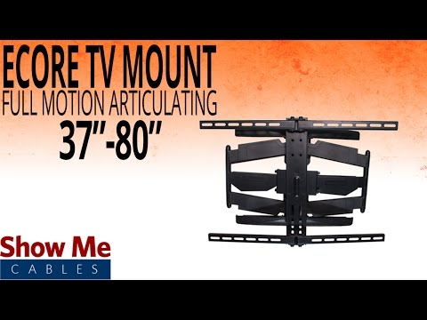 """How To Install A Full Motion Articulating TV Mount For TV's Between 37"""" To 80"""" #17-415-003"""