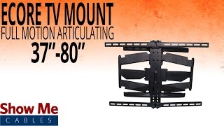 How To Install A Full Motion Articulating TV Mount For TV's Between 37