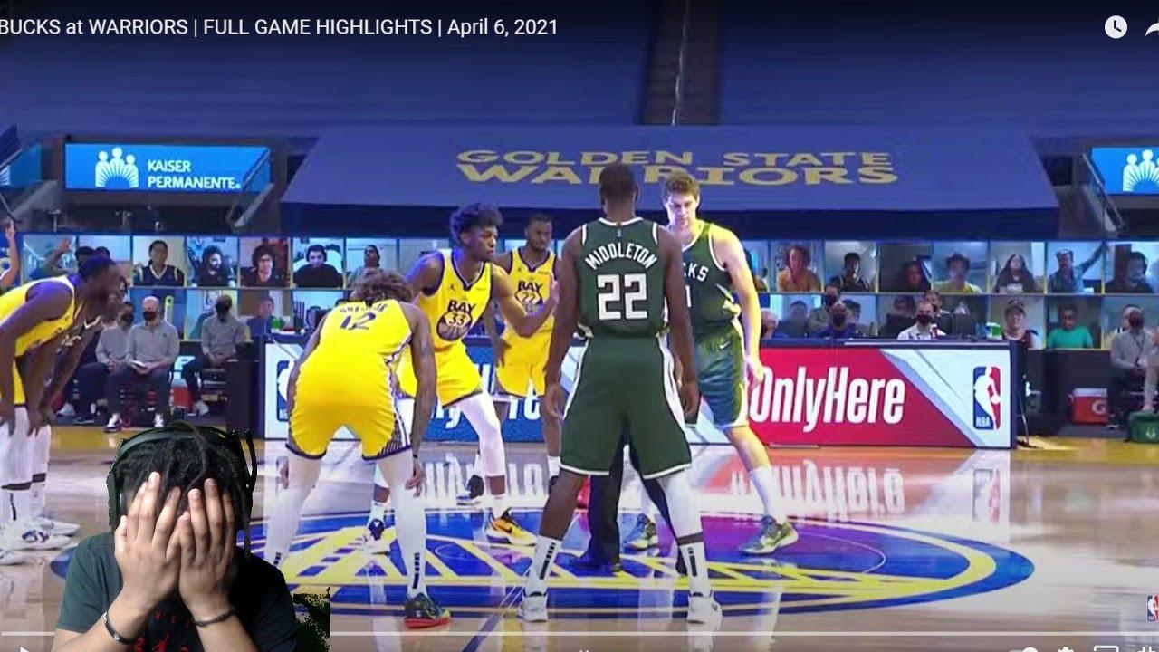 BUCKS at WARRIORS | FULL GAME HIGHLIGHTS | April 6, 2021! Reaction - YouTube