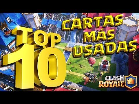 Las 10 CARTAS MÁS USADAS En CLASH ROYALE   Analizamos Y Creamos 2 Mazos Con Este TOP 10