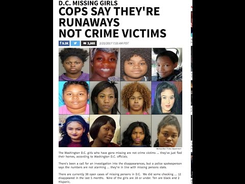 "Missing black girls in DC spark outrage~The D.C. media claims they're just ""RUNAWAYS"" not victims!"