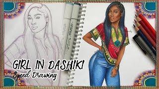 GIRL IN DASHIKI Speed Drawing