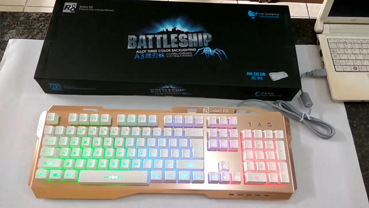 Keyboard R8 Battleship A3 GOLD LED