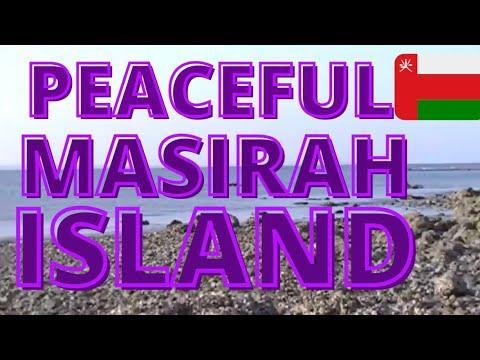 A Peaceful Beach Moment at Masirah Island off the Coast of Oman