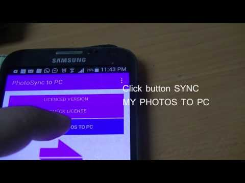 PhotoSync To PC Android and Windows Demo Video 1 - YouTube