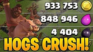 CRUSH THE LOOT DURING HOG HEAVEN! - Clash of Clans