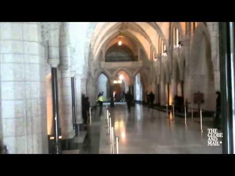 Ottawa Shooting - Inside Parliament Building Shootout