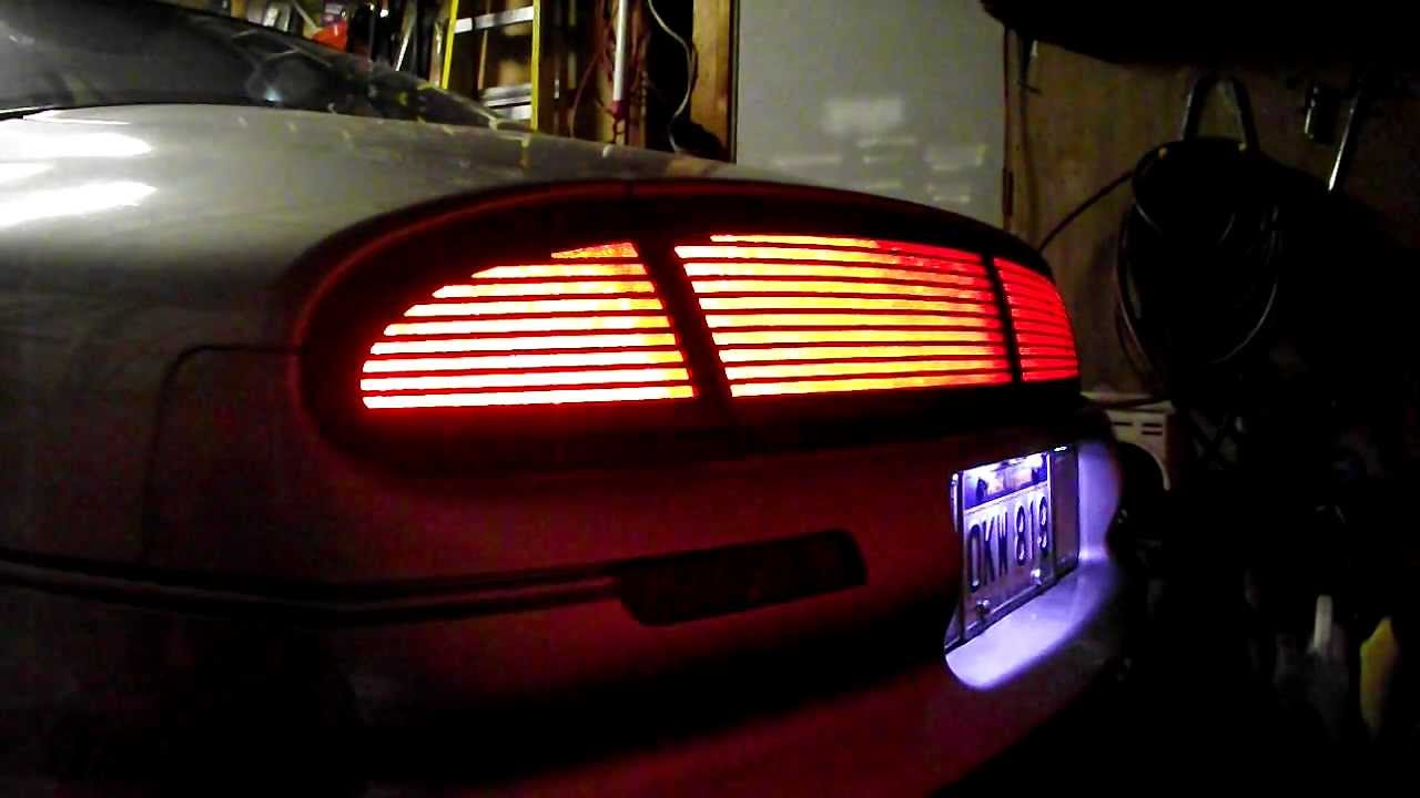 medium resolution of oldsmobile aurora led rear deck tails finish panel sequential turn signal youtube