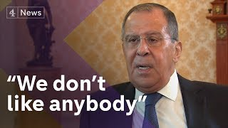 Exclusive Sergey Lavrov Russias Foreign Minister On Skripals Trump Kompromat Claims And OPCW