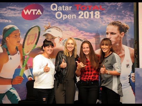 Tennis stars storm Doha for Qatar Total Open