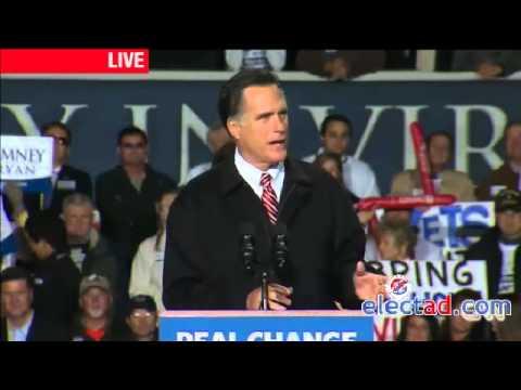 Mitt Romney Campaign Rally in Virginia Beach, VA - November 1 2012