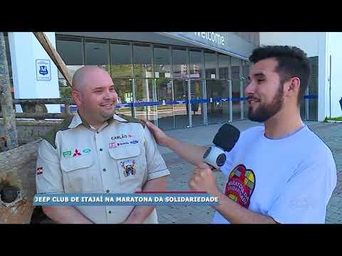 Jeep Club de Itajaí participa da maratona da solidariedade da RICTV Record